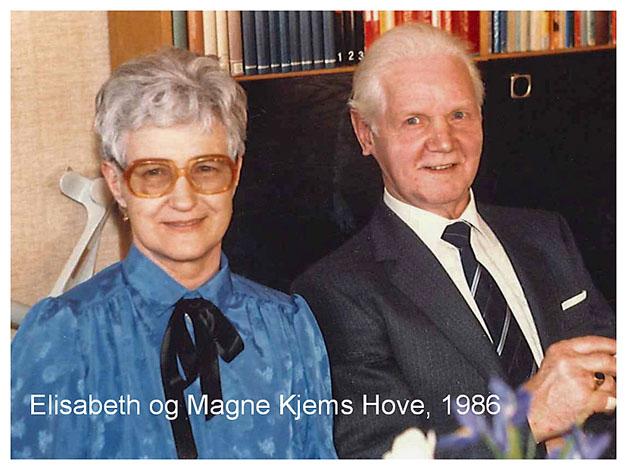 Elisabeth og Magne Kjems Hove 1986-2